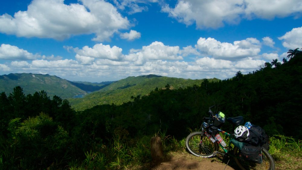 Visiting the mountains on a Bicycle travel through Cuba