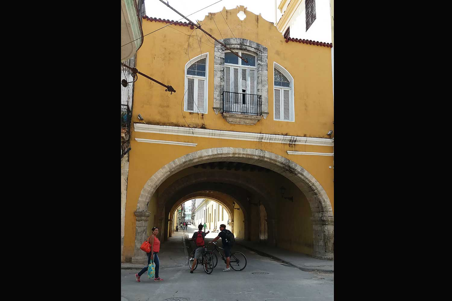 Bycicles at the Arch of Bethlehem Havana Cuba during a biking tour