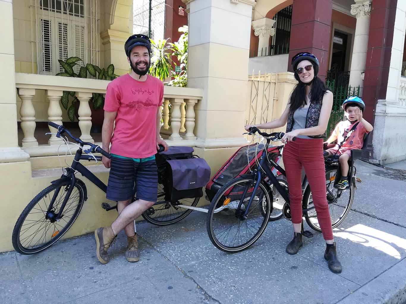 paseo en bici en familia