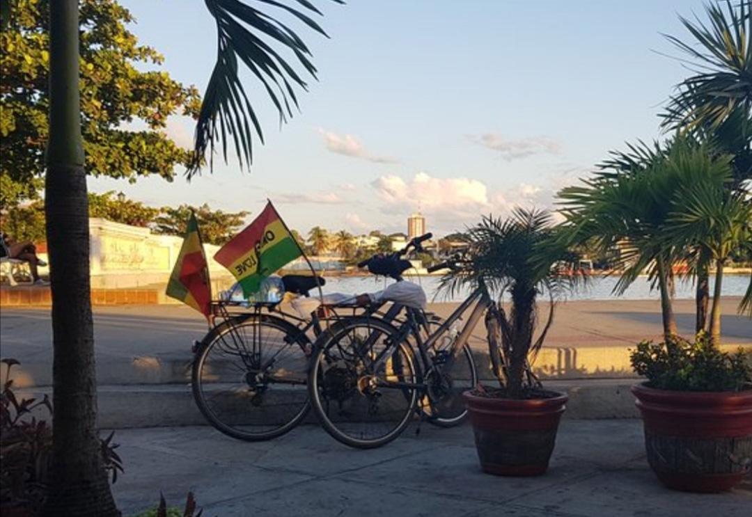 paseo por la playa en bici